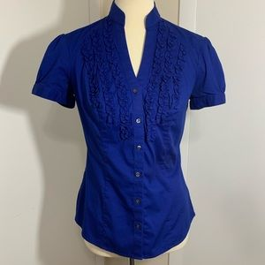 Express Essential Stretch Button Up Top